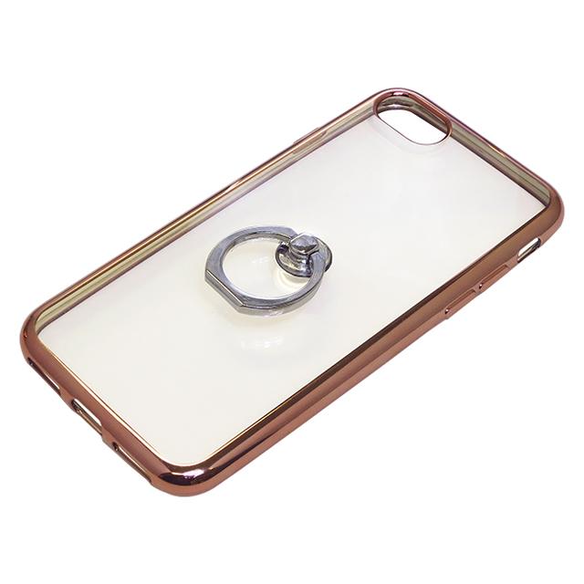 iPhone8/7用ジャケット リング付き サイドメッキ